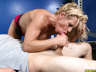blonde 69's weight room