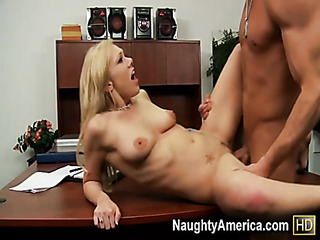 blonde slut seduces her
