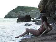 beach, brunette, erotica, wet