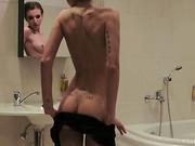 bathroom, erotica, hd porn, lace