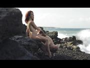 beach, hd porn, redhead, teen