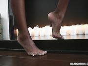 beautiful, foot, tits, white