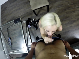 small-titted blondie with piercing