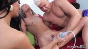 young blonde girl used
