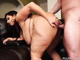 annoyed chubby slut finds