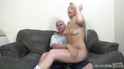 poor blonde slut has