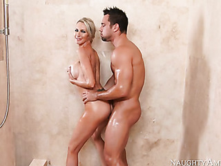 curvy blonde milf gets