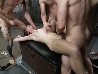 handsome brunette with pussy