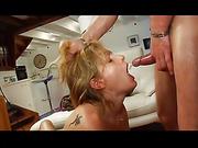 bedroom, brunette, hardcore, threesome