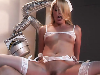 well-formed blonde white mesh