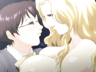 blonde anime whore gets