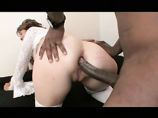 horny brunette slut takes