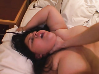 chubby brunette slut with