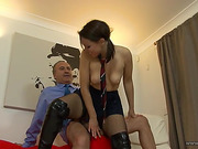 blowjobs, old and young, upskirt, young old
