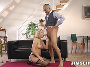 blonde, old and young, shaved, stockings