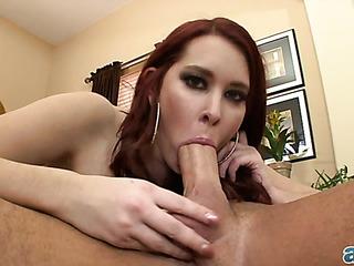 redhead babe loves sucking