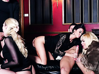 passionate foursome with two
