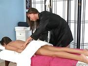 beautiful, lesbian, massage, white