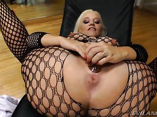 thick blonde fox black