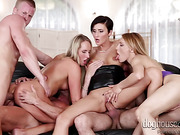 group sex, riding, sucking