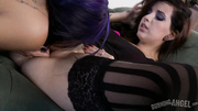 girl stockings gets her
