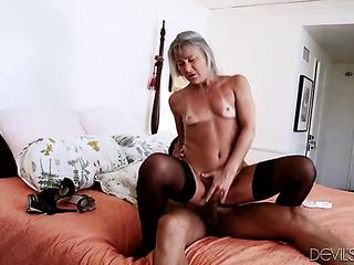 horny granny wearing dark