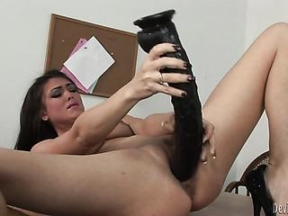 hunky brunette wearing black